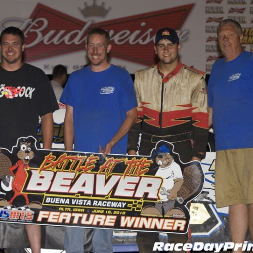 Ryan and crew celebrate their win at The Beaver.