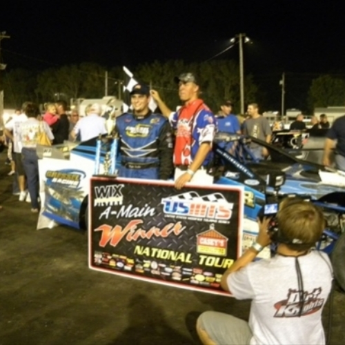 Ryan's win at the Hamilton County Speedway in Webster City, Iowa.