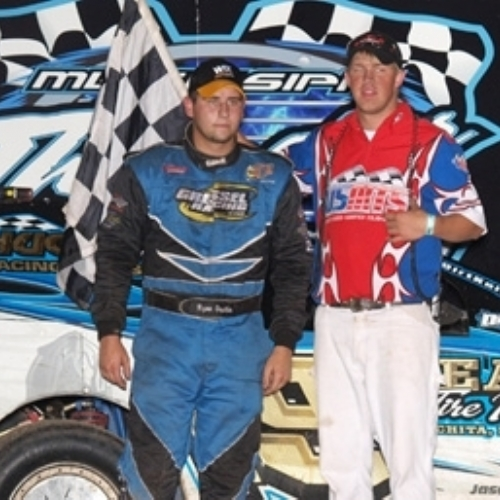 Ryan's win at the Mississippi Thunder Speedway in Fountain City, Wis., on Aug. 2.